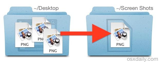 Change where Mac saves screen shot files