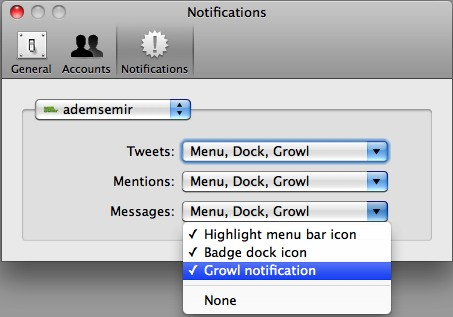 growl notifications twitter mac