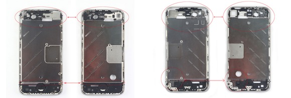 iphone 5 vs iphone 4 parts comparison