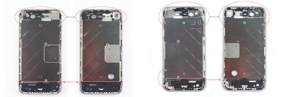 iphone 5 vs iphone 4 parts comparison