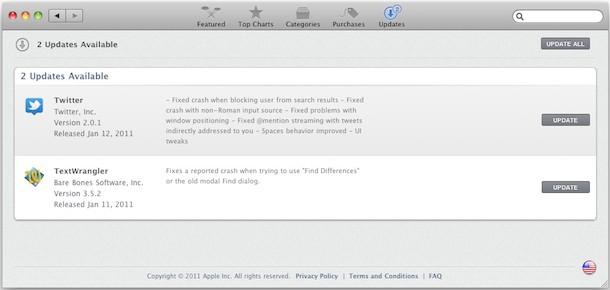 mac app store install updates