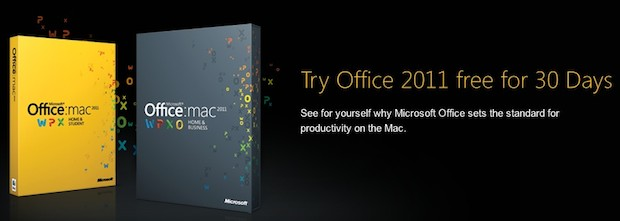 office for mac 2011 trial