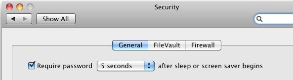password protect mac screensaver and from sleep wake