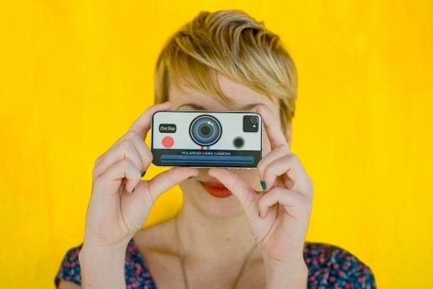 polaroid iphone sticker decal