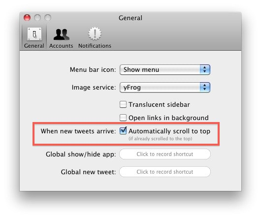 twitter for mac livestream auto update