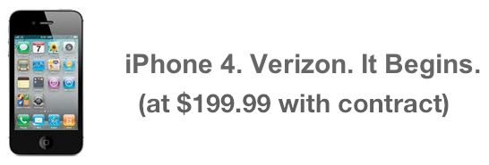 verizon iphone 4 price