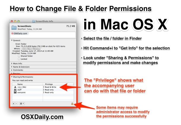 How to Change Permissions for Files & Folders in Mac OS X