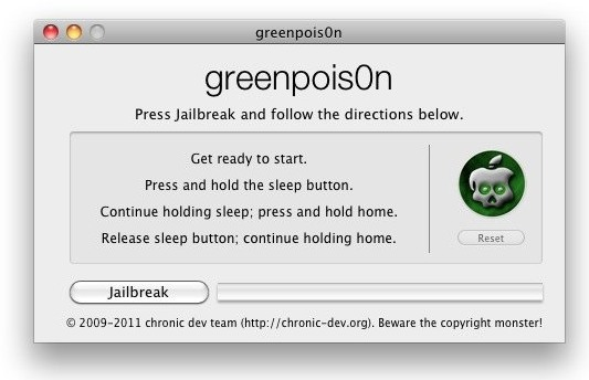 how to jailbreak ios4-2-1 with greenpois0n untether