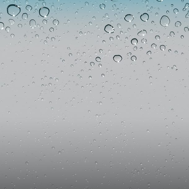 iOS 4 default wallpaper of water droplets