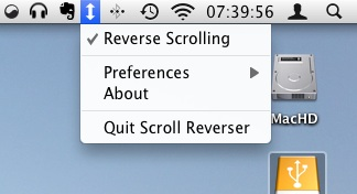 iOS reverse scrolling for Mac OS X