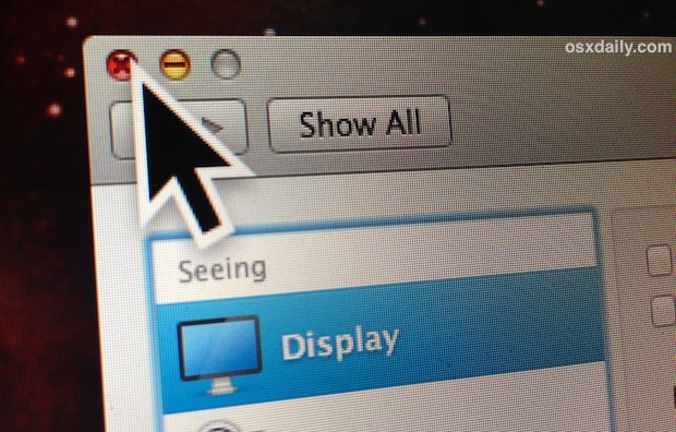 Large cursor in Mac OS X
