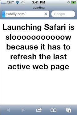 Speed up Safari on iPhone