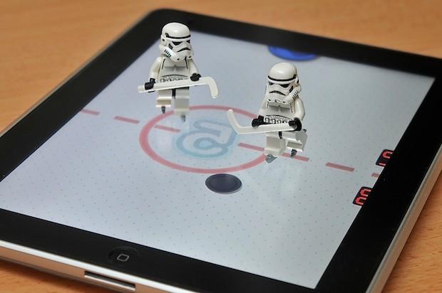 lego iPad hockey