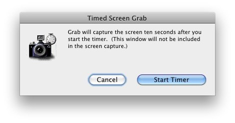 Timed Screen Shot in Mac OS X