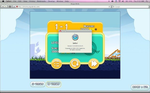Angry Birds is free for Safari too