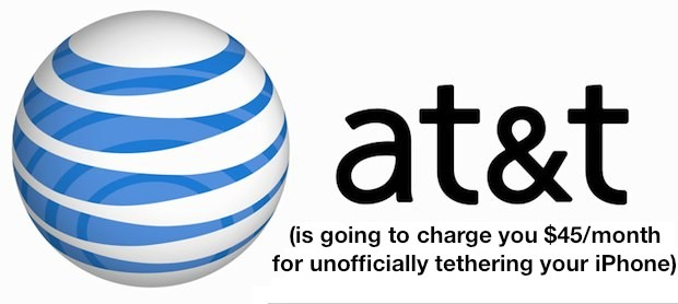 AT&T iPhone Tethering Fee Being Charged for Unofficial Tethering