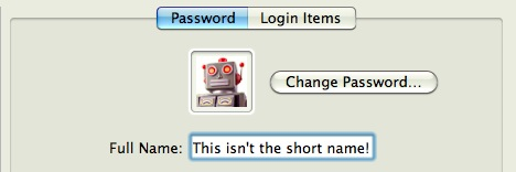Change a User Short Name in Mac OS X