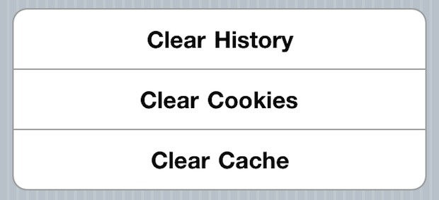 Clear History, Cookies, and Cache from Safari Browser on iPhone & iPad