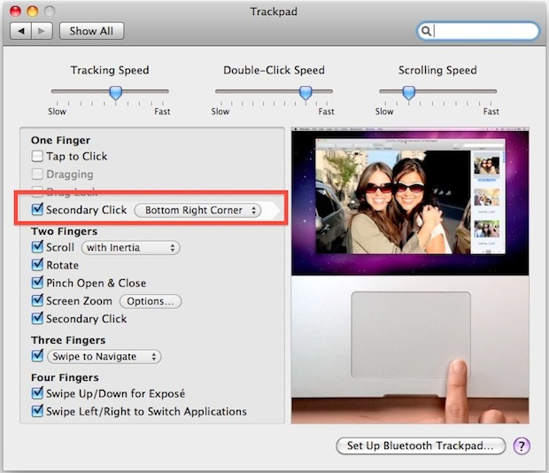 Enable a literal right-click in Mac OS X