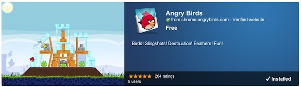 Download and play Angry Birds for free with Chrome