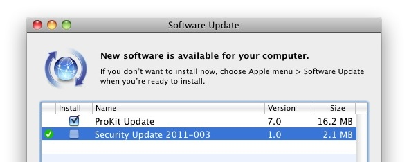Mac OS X Security Update for Anti-Malware