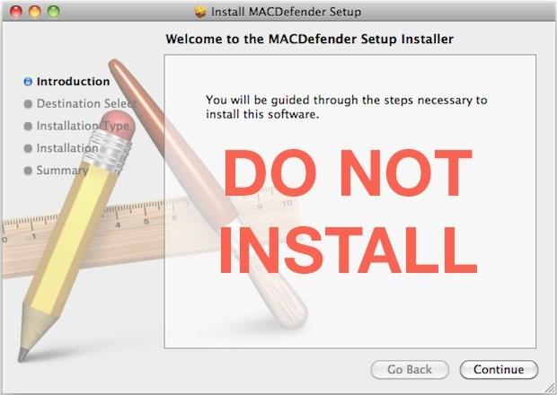 MACDefender Mac Malware