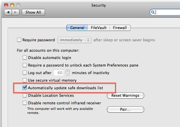 enable and disable automatic malware definitions downloads