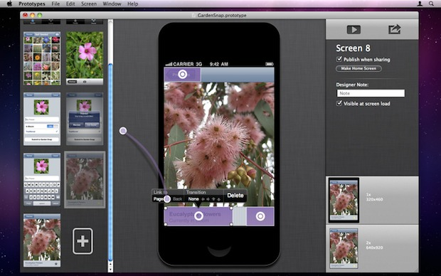 Prototype iPhone and iOS apps from a Mac app