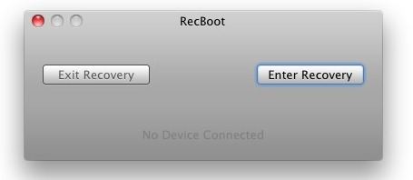 iPhone Stuck in Recovery Mode Escape with RecBoot