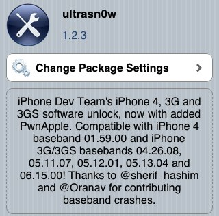 ultrasn0w 1.2.3 for iOS 4.3.3