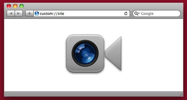 white browser window to brighten a dark video chat