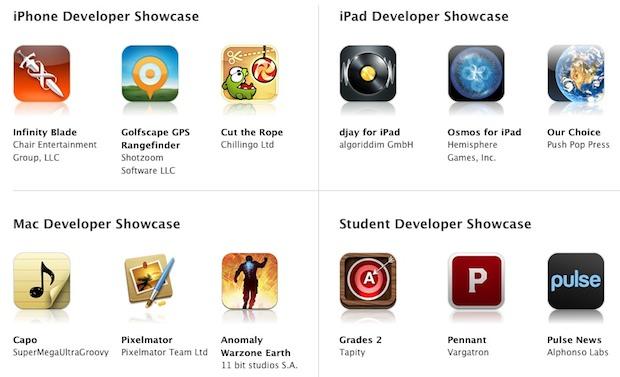 Apple Design Awards for WWDC 2011