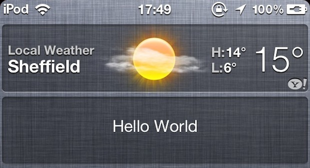 Custom iOS 5 Widgets are Possible