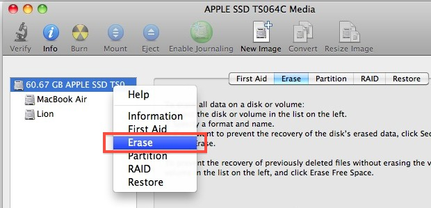 Erase a drive with Disk Utility