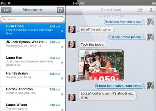 iMessage in iOS 5