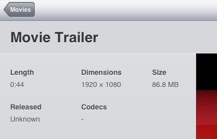 iOS 5 1080p HD video playback