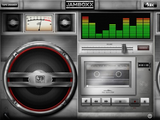 Jamboxx is an iPad Boombox lookalike