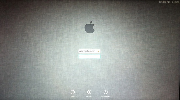 Linen Login screen for Lion Dev Preview
