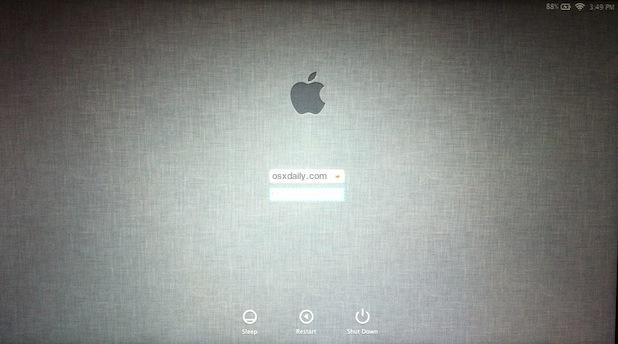 Linen Login screen for Lion Dev Preview