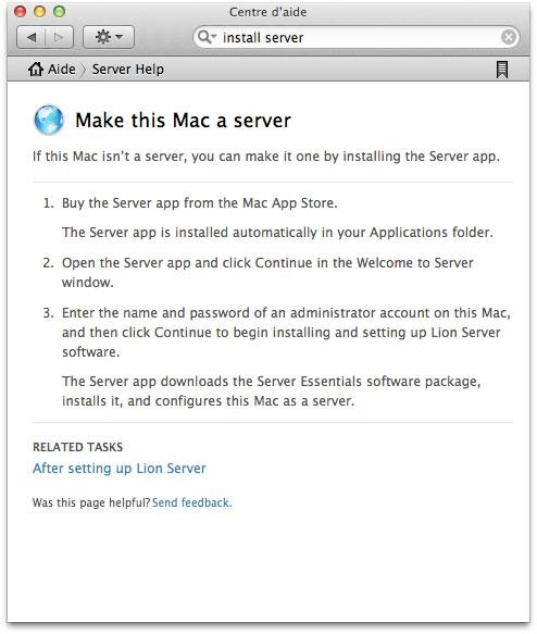 Lion Server downloadable from the App Store
