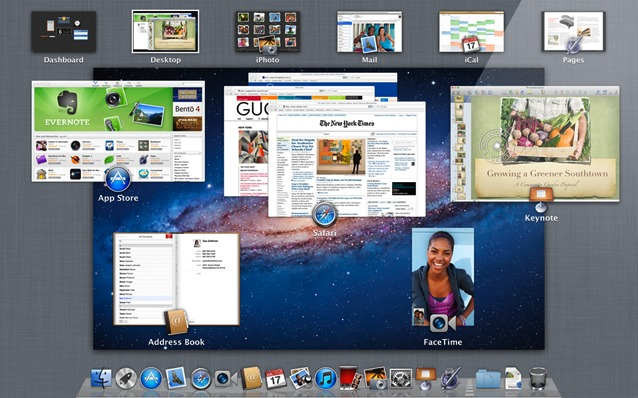 Mac OS X Lion Mission Control screenshot
