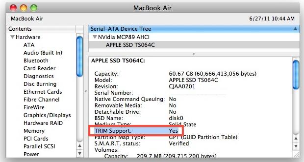 Mac OS X 10.6.8 TRIM Support