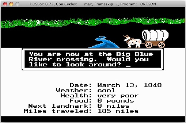 Oregon Trail for Mac