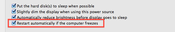 Automatically restart Mac if freezes