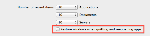Disable App Resume in Mac OS X Lion