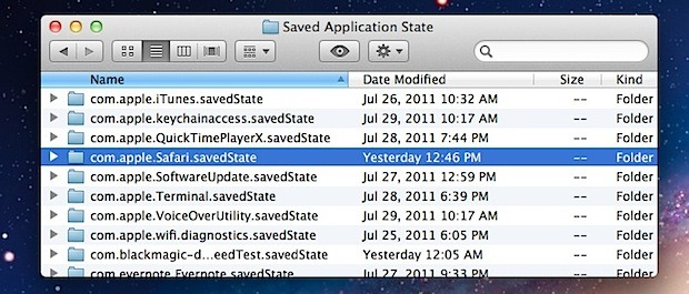 Disable Specific App Saved State and Resume in OS X Lion