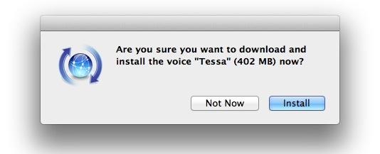 Downloading new Mac OS X Lion voices