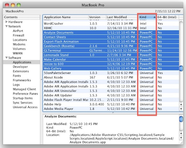 Check OS X Lion Compatible Apps
