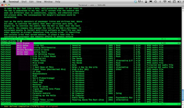 ViTunes command line iTunes player