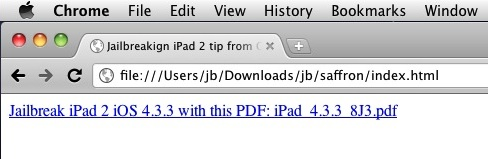 Jailbreaking iPad 2 from your own local webserver